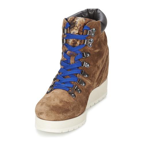Alberto Gozzi VELOUR MARRONE Braun  Schuhe Low Boots Damen 180