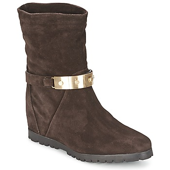 Schuhe Damen Low Boots Alberto Gozzi VELOUR PEPE Braun