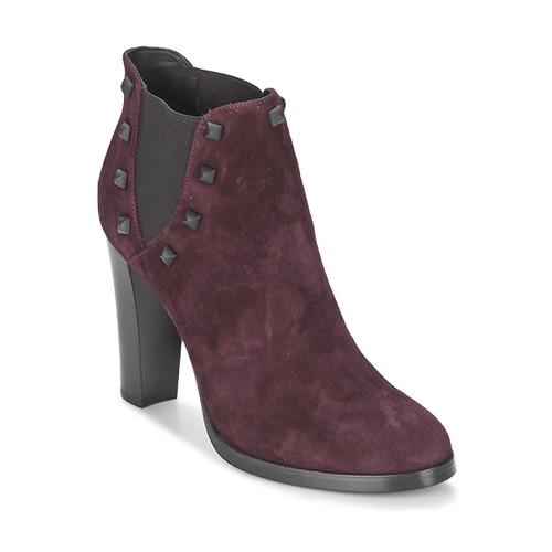 Alberto Gozzi CAMOSCIO NEIVE Bordeaux Schuhe Low Boots Damen 109