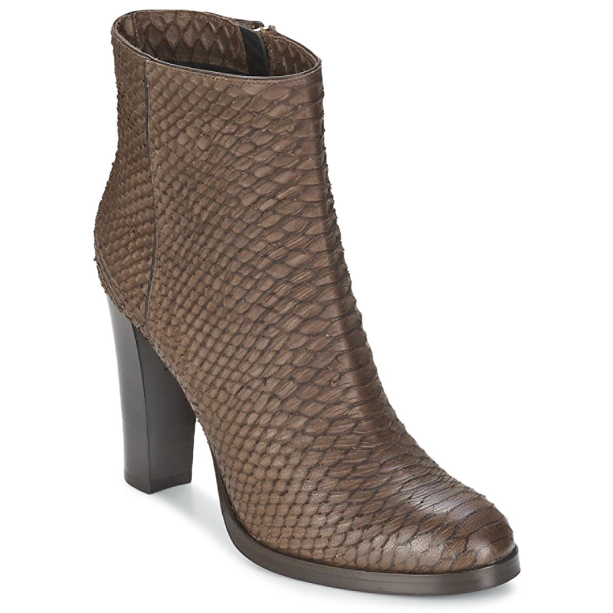 Alberto Gozzi MADRID T MORO Braun - Kostenloser Versand bei Spartoode ! - Schuhe Low Boots Damen 143,80 €