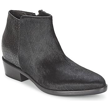 Schuhe Damen Boots Alberto Gozzi PONY NERO Schwarz