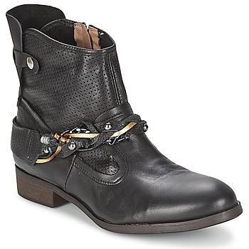 Schuhe Damen Boots Regard SOFAXO Schwarz
