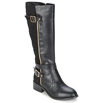 Schuhe Damen Klassische Stiefel Moony Mood IMMA Schwarz