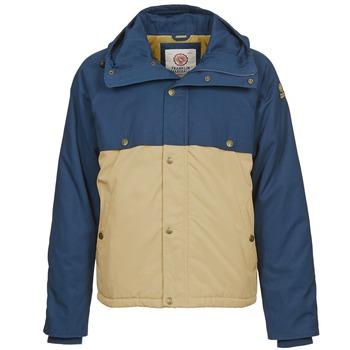 Kleidung Herren Parkas Franklin & Marshall JKMVA034 Blau / Beige