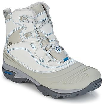 Schuhe Damen Wanderschuhe Merrell SNOWBOUND MID WTPF Grau