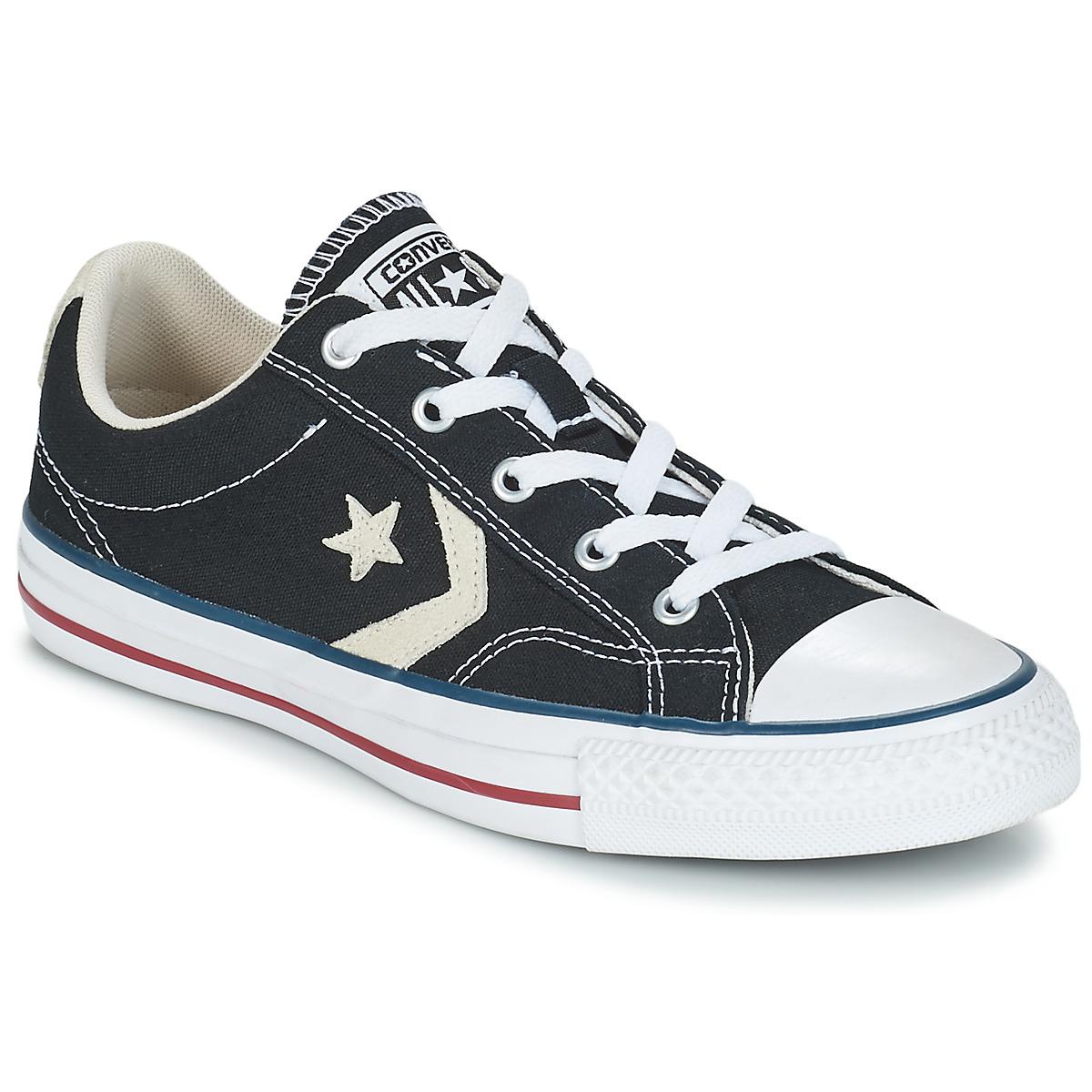 Converse STAR PLAYER OX Schwarz - Kostenloser Versand bei Spartoode ! - Schuhe Sneaker Low  51,99 €