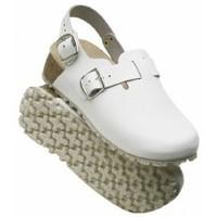 Schuhe Pantoletten / Clogs Weeger Küchenclog Art. 48327 Spezialsohle weiss