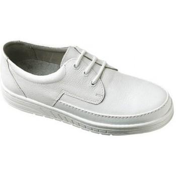Schuhe Herren Slipper Abeba Schnürer Art. 2600w/2610sw weiss