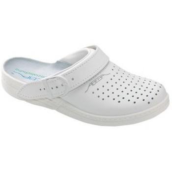 Schuhe Pantoletten / Clogs Abeba Küchenclog perf. 7020w / 7030schw weiß