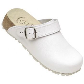 Schuhe Pantoletten / Clogs Weeger Küchenclog Art. 48313 Spezialsohle weiß