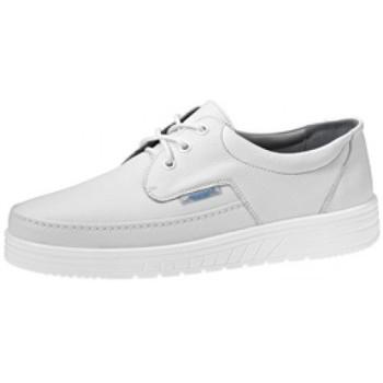 Schuhe Halbschuhe Abeba Schnürer 2600 weiss