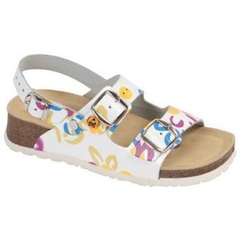 Schuhe Damen Sandalen / Sandaletten Weeger ESD-Sandale Art. 45125 weiss Mult
