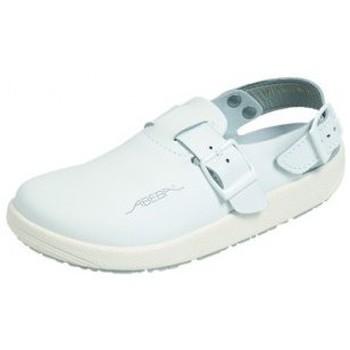 Schuhe Damen Pantoletten / Clogs Abeba Küchenclog 9100 weiß