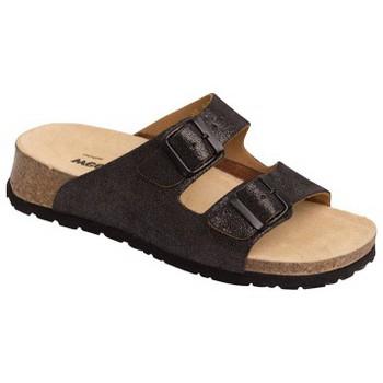 Schuhe Damen Pantoffel Weeger Bio Pantol. Art.11120 schw.met