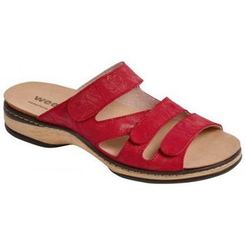 Schuhe Damen Pantoffel Weeger Pantol. Art. 14620 rot