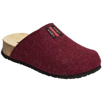 Schuhe Damen Pantoffel Weeger Hausschuh Art. 41525 Keilsohle bordo