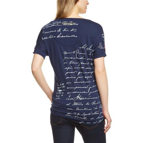 Desigual TEE SHIRT AMPLE Blau - Kleidung T-Shirts & Poloshirts Damen 4280 909BL