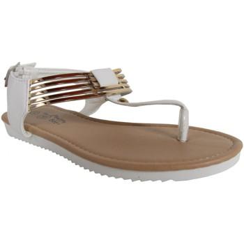Schuhe Mädchen Zehensandalen Happy Bee B127060-B4600 Blanco