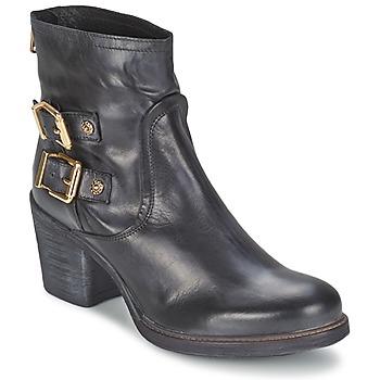 Schuhe Damen Low Boots Meline LODU Schwarz