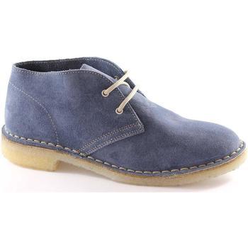 Schuhe Damen Derby-Schuhe Manifatture Italiane MANIFATTURE ITALIAN 2361 Jeans Schuhe Unisex Wanderschuhe Desert Blu