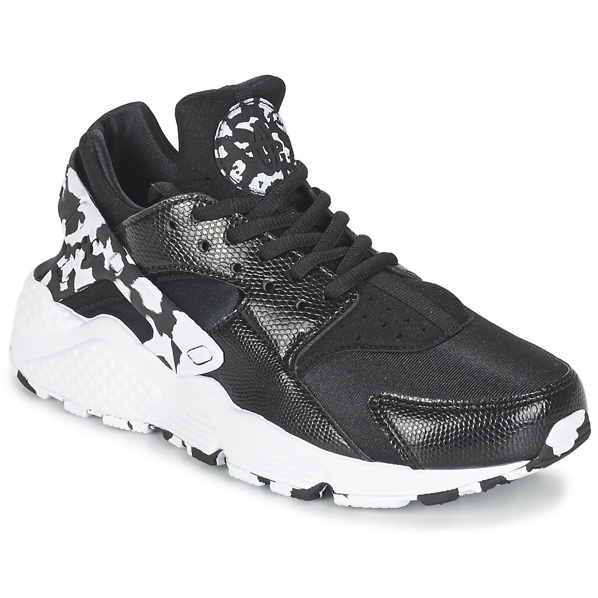 Nike AIR HUARACHE RUN SE W Schwarz / Weiss - Kostenloser Versand bei Spartoode ! - Schuhe Sneaker Low Damen 77,40 €