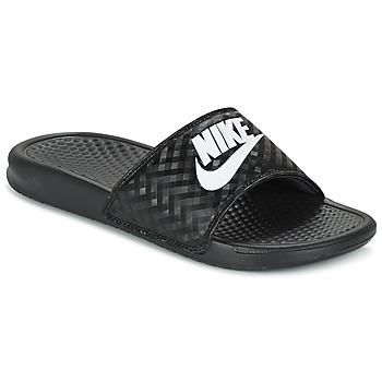 Schuhe Damen Pantoletten Nike BENASSI JUST DO IT W Schwarz / Weiss
