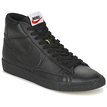 Schuhe Herren Sneaker High Nike BLAZER MID Schwarz
