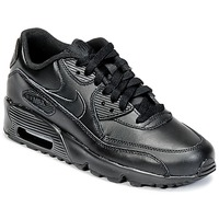 Schuhe Jungen Sneaker Low Nike AIR MAX 90 LEATHER GRADE SCHOOL Schwarz