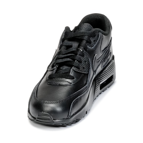 Nike AIR MAX 90 LEATHER GRADE SCHOOL Schwarz