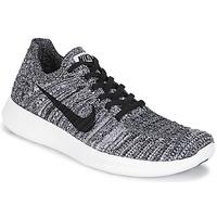 Schuhe Damen Laufschuhe Nike FREE RUN FLYKNIT W Weiss / Schwarz