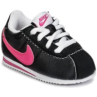 Schuhe Mädchen Sneaker Low Nike CORTEZ NYLON TODDLER Schwarz / Rose