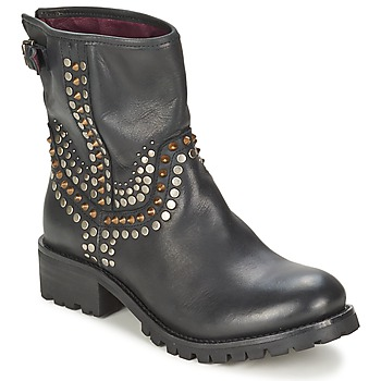 Schuhe Damen Boots Ikks SEATTLE-PREMIUM Schwarz