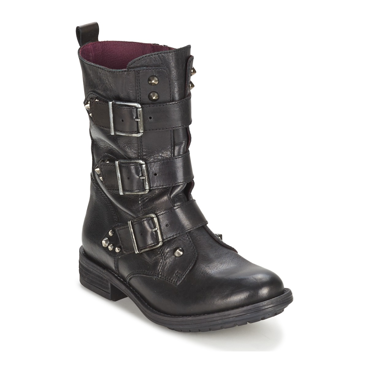 Ikks RANGER-COLLECTOR-BOUCLE Schwarz - Kostenloser Versand bei Spartoode ! - Schuhe Boots Damen 137,50 €