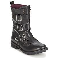 Schuhe Damen Boots Ikks RANGER-COLLECTOR-BOUCLE Schwarz