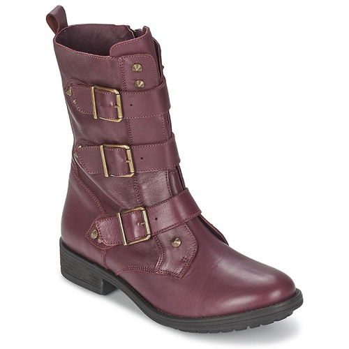 Schuhe Damen Boots Ikks RANGER-COLLECTOR-BOUCLE Bordeaux