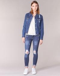 Kleidung Damen Slim Fit Jeans Yurban FOUNOLE Blau