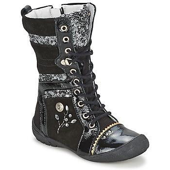 Schuhe Mädchen Boots Catimini CYLENE Schwarz-pailletten / Dpf / 2530