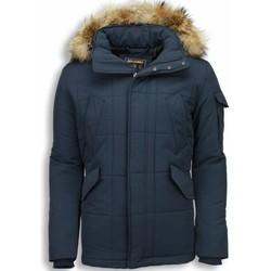 Kleidung Herren Parkas Beluomo Jacken Mit Fellkragen Winterjacken  Kleine Blau