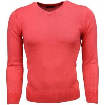 Kleidung Herren Pullover Tony Backer Exclusive VHals Rosa