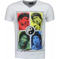 Kleidung Herren T-Shirts Local Fanatic Bruce Lee Ying Yang Weiß