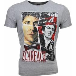Kleidung Herren T-Shirts Local Fanatic Scarface Frame Print Grau