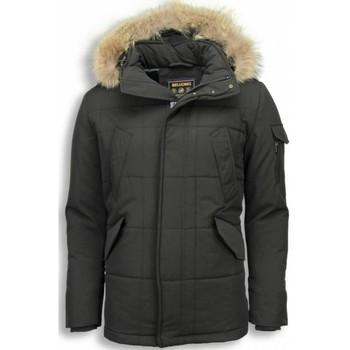 Kleidung Herren Parkas Beluomo Jacken Mit Fellkragen Winterjacken  Kleine Schwarz