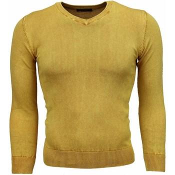 Kleidung Herren Pullover Tony Backer Exclusive VHals Gelb
