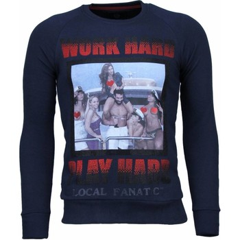 Kleidung Herren Sweatshirts Local Fanatic Bilzerian Strass Blau