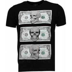 Kleidung Herren T-Shirts Local Fanatic Better Have My Money Strass Schwarz