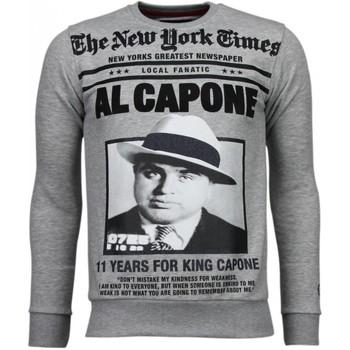 Kleidung Herren Sweatshirts Local Fanatic Al Capone Strass Grau