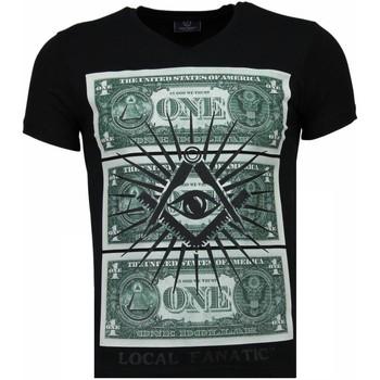 Kleidung Herren T-Shirts Local Fanatic One Dollar Eye Schwarz