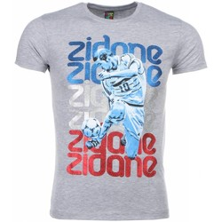 Kleidung Herren T-Shirts Local Fanatic Zidane Print Grau