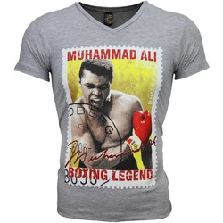 Kleidung Herren T-Shirts Local Fanatic Muhammad Ali Siegel Print Grau