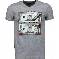 Kleidung Herren T-Shirts Local Fanatic Scarface Dollar Grau